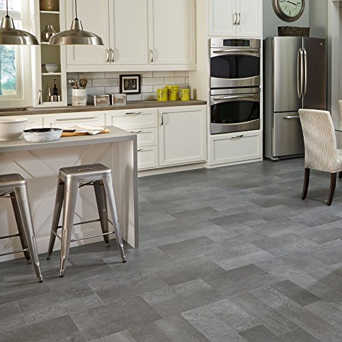 Mannington Hardware AT404 Adura Glue Down Collection Meridian Luxury Vinyl Tile Flooring, Steel by Mannington (Image #1)'