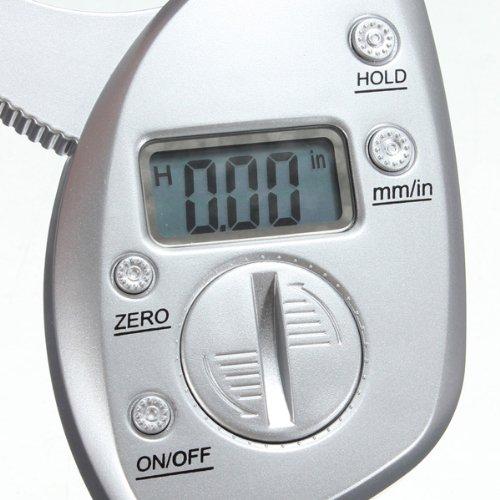 50mm Digital LCD Body Fat Caliper Skin Fold Analyzer Measurement