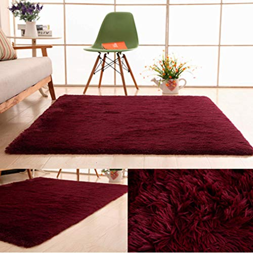 Zarbrina Thicken Large Area Rug of Living Room Plush Carpet for Dinning Bedroom Red Green Wool Car Mats Soft 1.6'2.5'