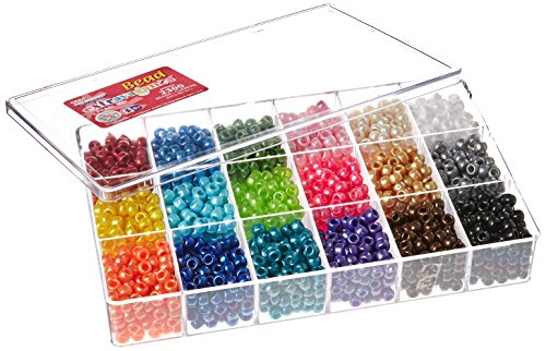 Colored Beads - Beadery Bead Extravaganza Bead Box Kit, 19.75-Ounce, Pearl