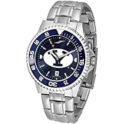 BYU Brigham Young University Men's Stainless Steel Dress Watch