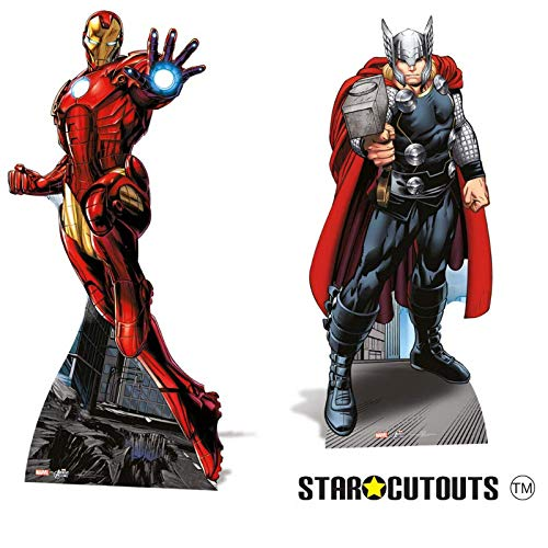 Marvel Star Cutouts Official Avengers Life Size Cutout of Iron Man 175cm Tall 80cm Wide