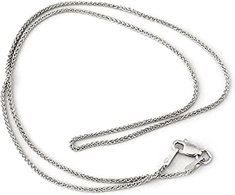 14k Adjustable Wheat Chain Necklace in White Gold Yellow Gold Choice of Lengths 30 and 1.1mm