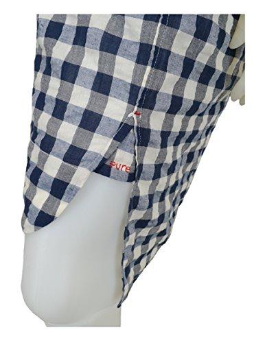 Karan Dimensione Bianco Navy A Camicia Abito Blu Scacchi P Donna Xs Dkny Puro qw8CEwH