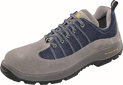Delta plus calzado - Zapato serraje nylon poliuretano gris/azul 2d -s1p talla 46