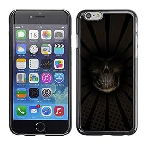 Carcasa Funda Prima Delgada SLIM Casa Case Bandera Cover Shell para Apple Iphone 6 / Business Style Grim Reaper Death Close Up