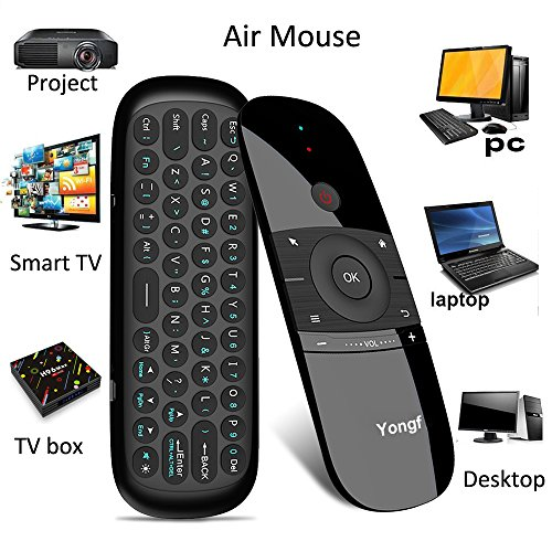 Air Mouse,Yongf 57B 2.4Ghz Fly Mouse Wireless Mini Keyboard with Mouse Game Handle Android Remote Control for Smart TV Android TV Box PC HTPC IPTV Media Player