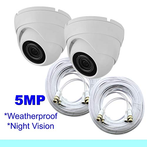 (Lot of Two Samsung Wisenet Compatible 5MP Dome Security Camera f/SDH-B84045BF, SDH-C85105BF)