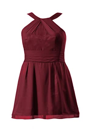 49703d6a8400 DaisyFormals Short Bridesmaid Dress w Straps (BM131230) Dark Scarlet ...