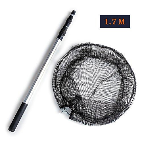 Catch 8 Net (Fishing Landing Net,Sportsvoutdoors Safe Catch Fishing Net [Foldable] [Telescoping] [Strong and Durable ] Comfortable Non-slip Handle Fishing Landing)