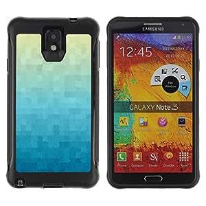 Suave TPU GEL Carcasa Funda Silicona Blando Estuche Caso de protección (para) Samsung Note 3 / CECELL Phone case / / Wallpaper Plaid Pattern Blue /