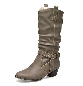 HN Boots Femmes Mi Mollet Bottes Cheville Bottines