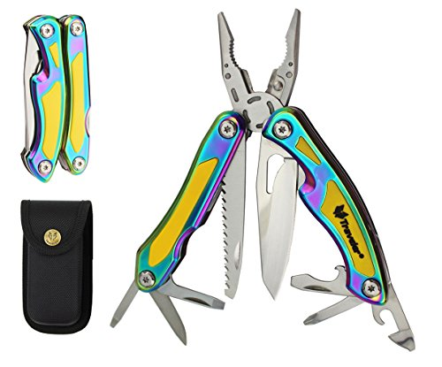 Pocket Camping Multitool Knife Pliers - Premium Tactical Multifunction Tool For Convenience In Survival Outdoor Activities (Vivid)