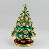 Christmas Tree Enamel Craft Jewelry Box Home Decor Nice Christmas Gift Green