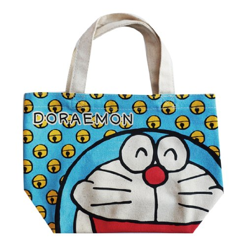 Doraemon Cotton gusset bag tin SHDR347 by Small Planet