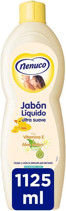 Nenuco Jabon Líquido Ultra Suave de bebé con extracto de aloe - 1125 ml
