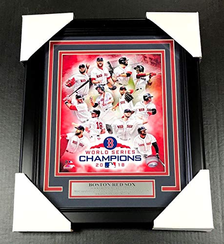 2018 BOSTON RED SOX WORLD SERIES CHAMPIONS TEAM PHOTO #5 FRAMED 8X10 COLLAGE