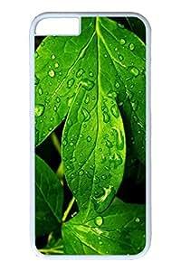 Brian114 6 plus Case, iPhone 6 plus Case - Anti-Scratch Case Bumper for iPhone 6 Plus Fresh Green Leaves Slim Fit Case for iPhone 6 Plus 5.5 Inches