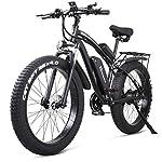 Bicicletta-elettrica-1000W-mountain-bike-pneumatico-grasso-neve-ebike-bici-elettrica-per-uomo-adulti-fat-bike-elettrica-moto-48V-13A-Batteria-doppio-freno-a-disco-idraulico-21-velocit-Nero