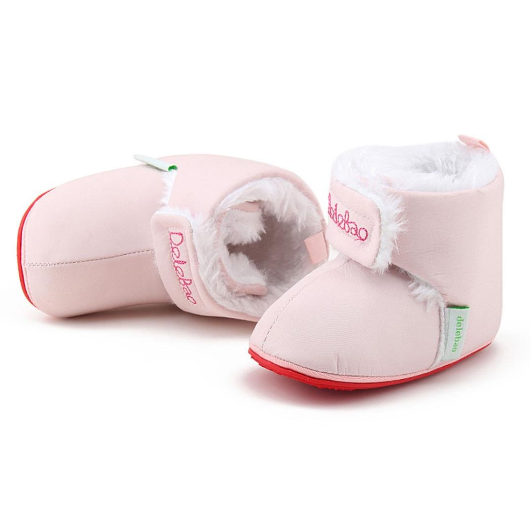 FORESTIME Toddler Newborn Baby Solid Soft Sole Boots Prewalker Bulb Warm Shoes