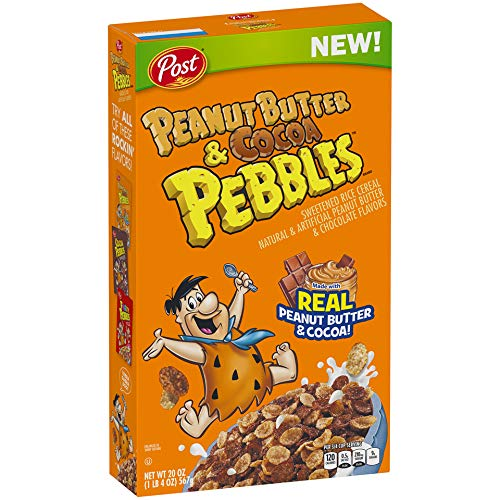 Post Peanut Butter & Cocoa Pebbles Breakfast Cereal 11 OUNCE