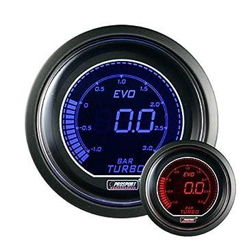 Manómetro de presión de turbo Prosport Digital - azul/rojo: Amazon.es: Hogar