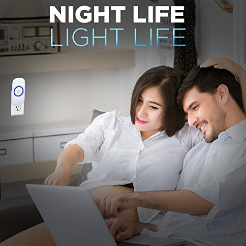 Motion Sensor Night Light, Plug in Motion Detector Led Nightlight Energy Saving Motion Activated Bright Safety Light for Kids and Adults Room, Bedroom, Bathroom, Hallway, Basement and Stairs 4-Pack by GOBULB (Image #5)
