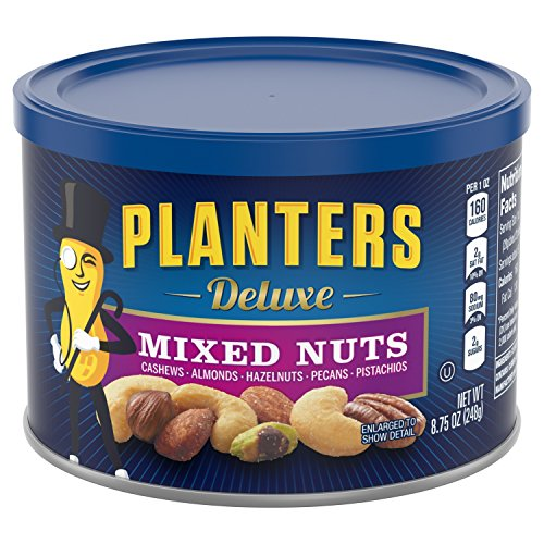Planters Mixed Nuts, Deluxe Mixed Nuts, 8.75 Ounce (Pack of 1) (Deluxe Nuts)