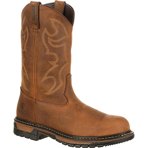 Rocky Men's Original Ride Steel Toe Brown Work Boot,Brown,9.5 M US