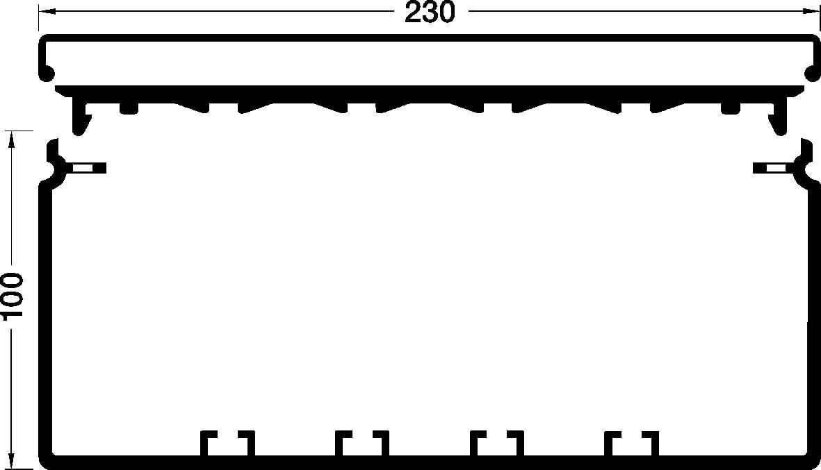 Tehalit Fensterbank-Kanal 100x230 mm