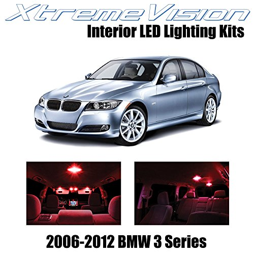 XtremeVision BMW 3 Series E90 E92 M3 2006-2012 (18 Pieces) Red Premium Interior LED Kit Package + Installation Tool
