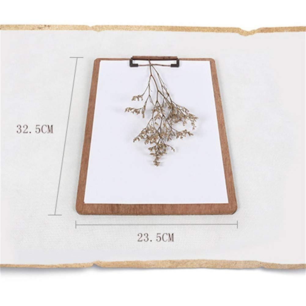 Alce Elfo Portapapeles A4 de Madera de Alta Calidad Vintage de Archivo Titular de Almacenamiento Elegancia Lujo S/ólido de Madera Grano Esquinas Redondeadas Tablero de Dibujo