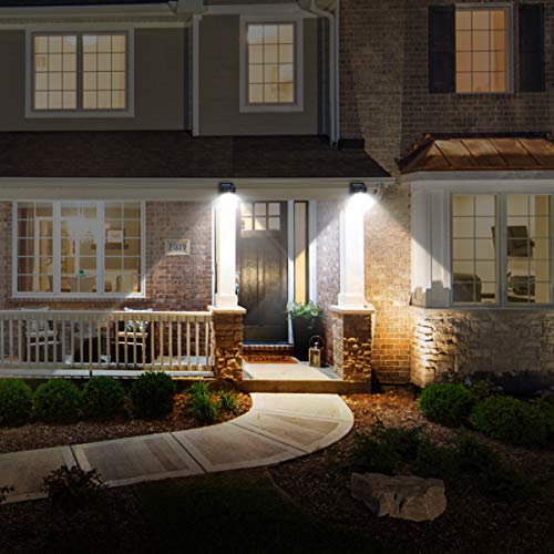 URPOWER Solar Lights Wireless Waterproof Motion Sensor Outdoor Light for Patio, Deck, Yard, Garden with Motion Activated Auto On/Off (4-Pack)
