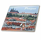 3dRose ct_155686_2 City of Prague Skyline View-St Vitus Cathedral-Castle-Czech Republic Travel Souvenir-Ceramic Tile, 6''