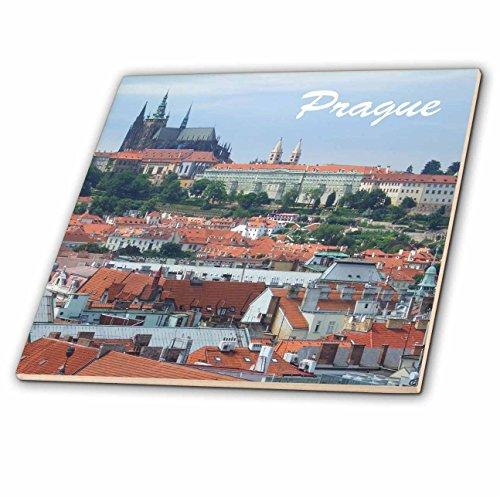3dRose ct_155686_2 City of Prague Skyline View-St Vitus Cathedral-Castle-Czech Republic Travel Souvenir-Ceramic Tile, 6'' by 3dRose