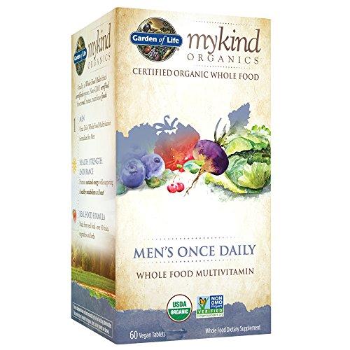 Garden of Life Multivitamin for Men - mykind Organic Men's Once Daily Whole Food Vitamin Supplement, Vegan, 60 Tablets