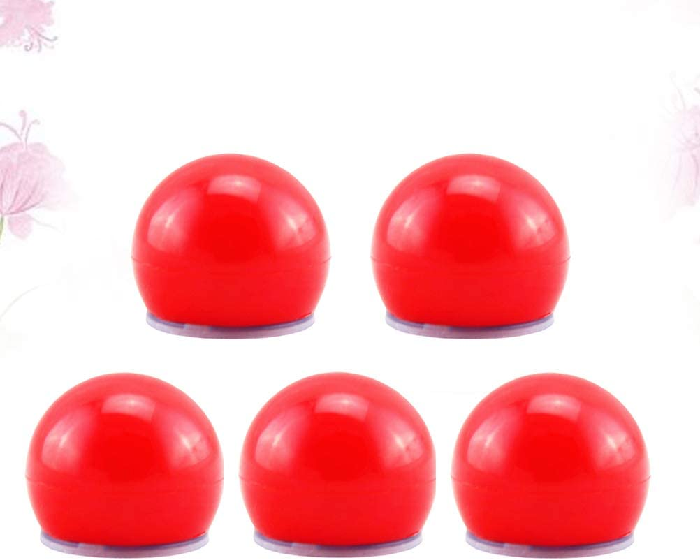 Carnival Clown Nose Toy Dress-Up Props Stage Props for Christmas Halloween Party Costume Balls 5pcs Halloween Red Nose Amosfun Red Nose LED Light Up Flashing Clown Nose