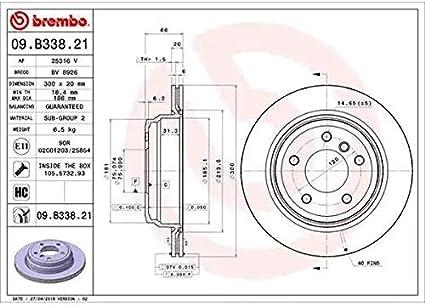 Abs Ecommerceparts 9145375044424 Kit 4 pastiglie freno posteriori ECP Kit 2 dischi freno posteriori