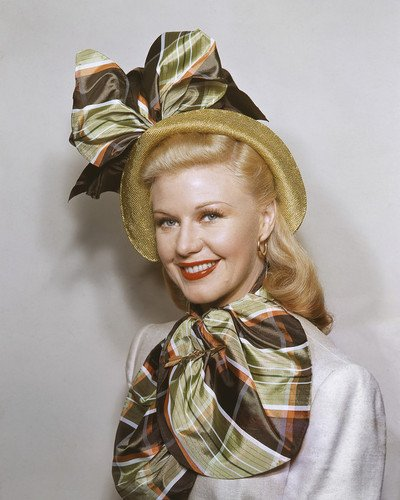 Ginger Rogers satin scarf matching hat smiling portrait 16x20 - Satin Portrait