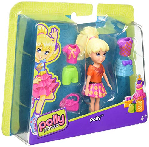 (Polly Pocket Polly Doll with clothes and bag)