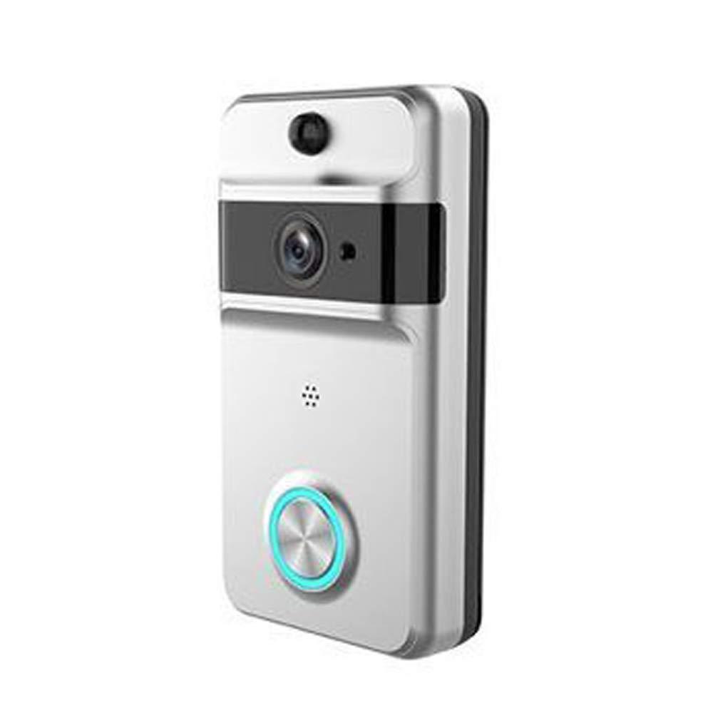 Rosepoem Wasserdichte Video Türklingel Wireless Wifi Türklingel, Wasserdichte Nachtsicht Alarm Türklingel Unterstützung Handy-Fernbedienung