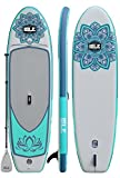 ISLE 10' Lotus Airtech Inflatable Yoga Stand Up Paddle Board (6