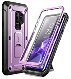 Galaxy S9 Plus Case, SUPCASE Kickstand Rugged Case with Built-in Screen Protector Shockproof Cover for Samsung Galaxy S9 Plus 6.2 inch 2018 Release (Purple)