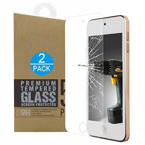iPod Touch Tempered Glass Screen Protector, Invisible Clear, Scratch Resistant,Anti-Shatter, Ultra Thin for Apple iPod Touch 6th /5th Genenration - Ipod Glasses