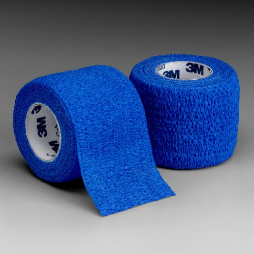 3M Health Care 1583B Self-Adherent Wrap, 3'' x 5 yd. Size, Blue (Pack of 24) by 3M Health Care