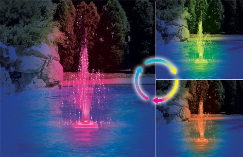 Color Changing Swimming Pool Fountain by SplashNet