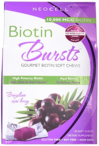 - Neocell Neocell Laboratories Biotin Bursts Chewable Acai Berry, High Potency (Pack of 2)