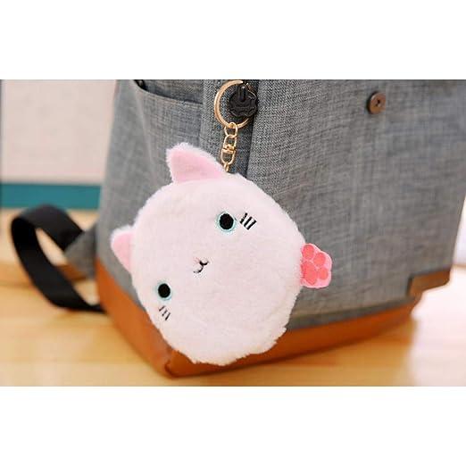 Amazon.com: La Dran - Bolso de felpa con diseño de gatos (6 ...