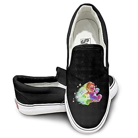 PTCY Shine Mario Bro Fashion Unisex Flat Canvas Shoes Sneaker 35 Black (Samsung Tab 4 Case Mario)