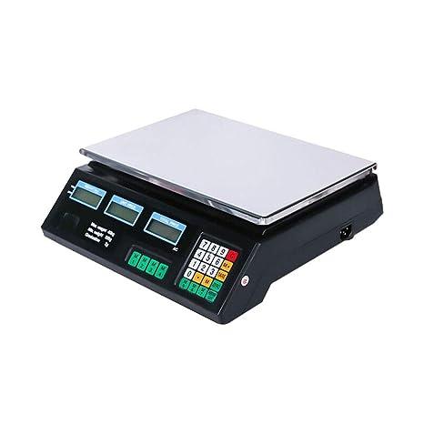 WZ Básculas De Cocina, 40kg / 1g Capacidad LCD Monitor Acero ...